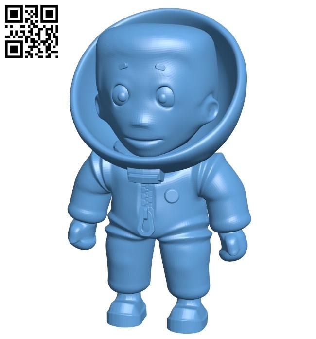 Little astronaut - man B009170 file obj free download 3D Model for CNC and 3d printer