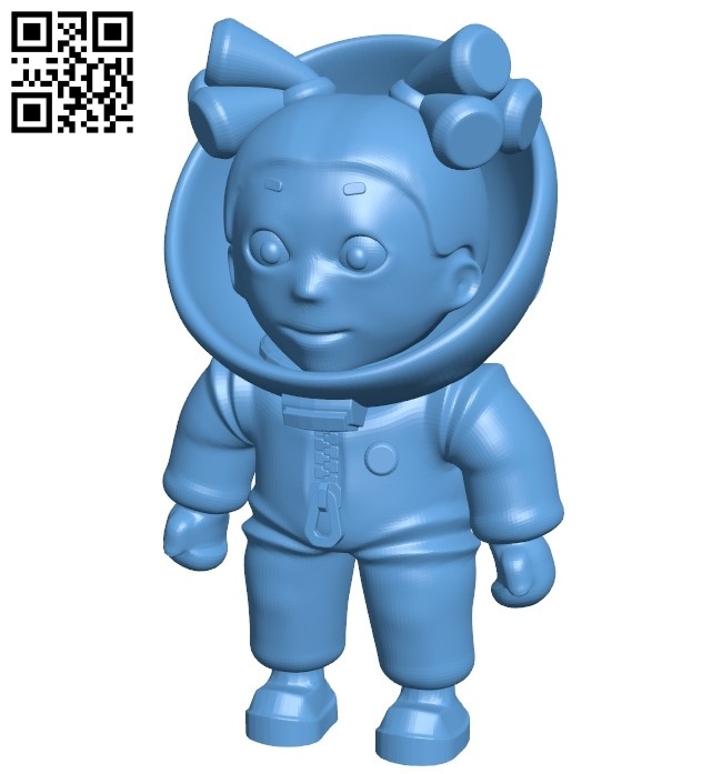 Little astronaut - woman B009171 file obj free download 3D Model for CNC and 3d printer