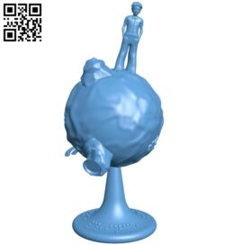 Little prince revolving planet B009054 file obj free download 3D Model for CNC and 3d printer