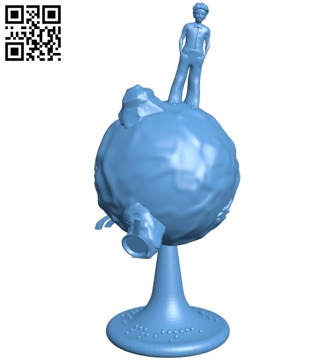 Little prince revolving planet B009054 file obj free download 3D Model for CNC and 3d printer