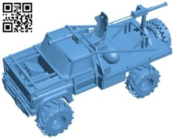 Mad max ford bronco – car B009058 file obj free download 3D Model for CNC and 3d printer