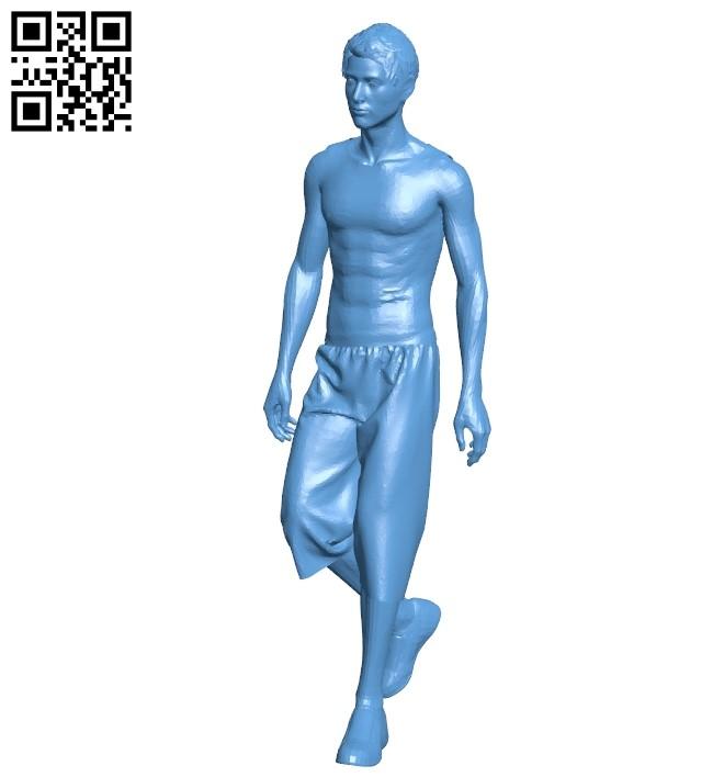 Man in umbro B009098 file obj free download 3D Model for CNC and 3d printer