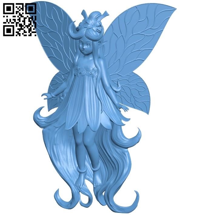 Mana faerie - girl B009219 file obj free download 3D Model for CNC and 3d printer