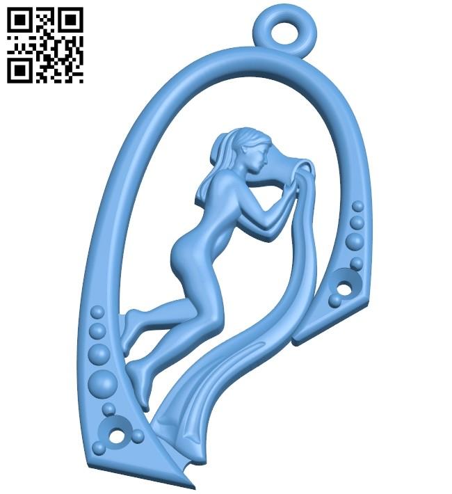 Medallion - Pendant B009068 file obj free download 3D Model for CNC and 3d printer