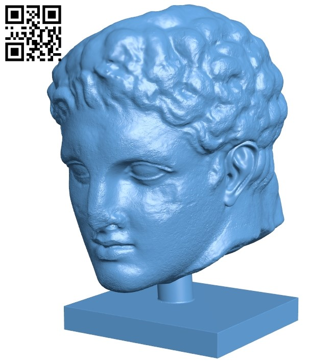 Met marble head of a youth B009081 file obj free download 3D Model for CNC and 3d printer