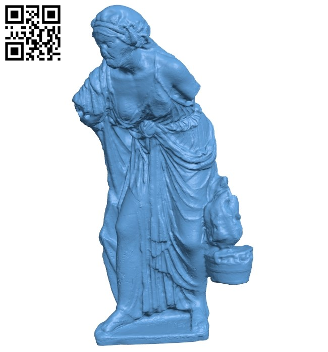 Met marble statue of an old woman B009080 file obj free download 3D Model for CNC and 3d printer