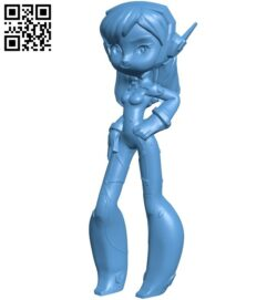Miss Diva B009091 file obj free download 3D Model for CNC and 3d printer