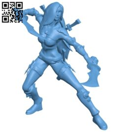 Miss Katarina B009065 file obj free download 3D Model for CNC and 3d printer