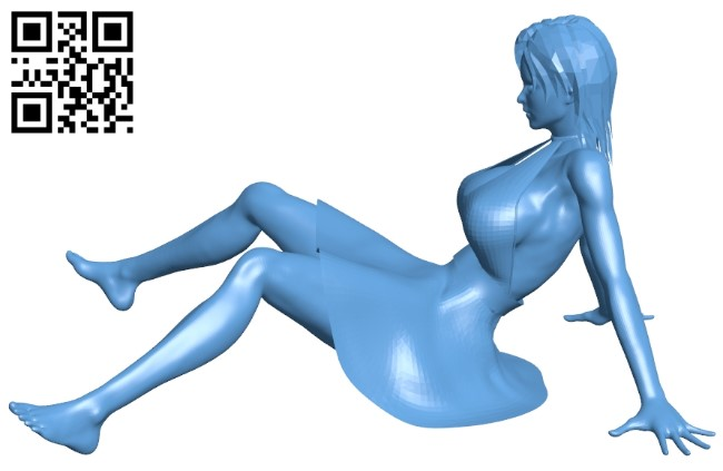Miss Ooops B009153 file obj free download 3D Model for CNC and 3d printer
