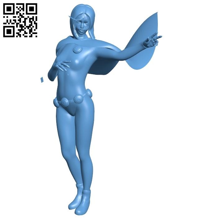 Miss Raven teen titans - superhero B009216 file obj free download 3D Model for CNC and 3d printer