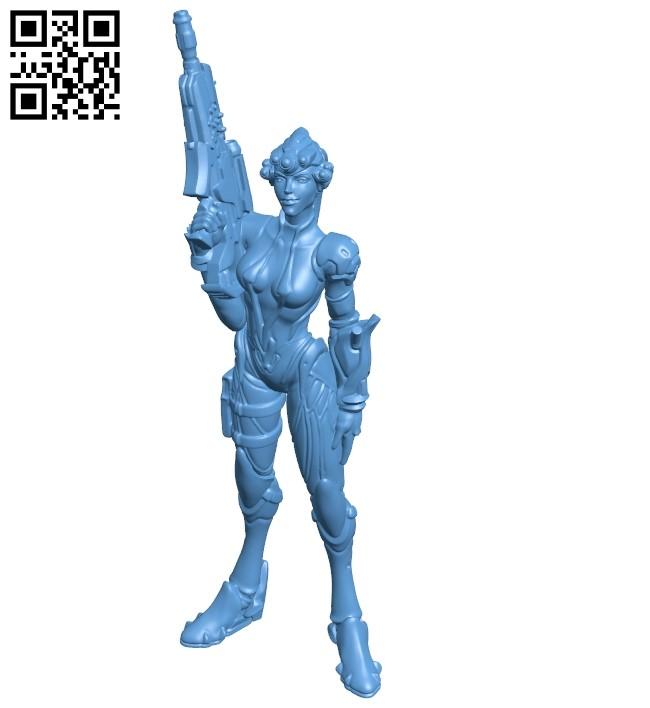 Miss widowmaker - game B009169 file obj free download 3D Model for CNC and 3d printer