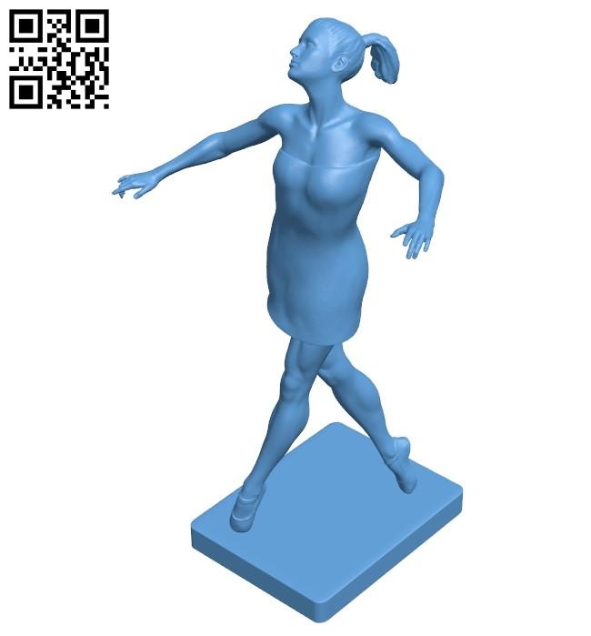 Modern dance - girl B009125 file obj free download 3D Model for CNC and 3d printer