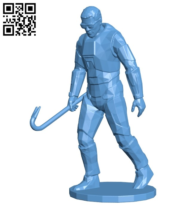 Mr Gordon B009089 file obj free download 3D Model for CNC and 3d printer