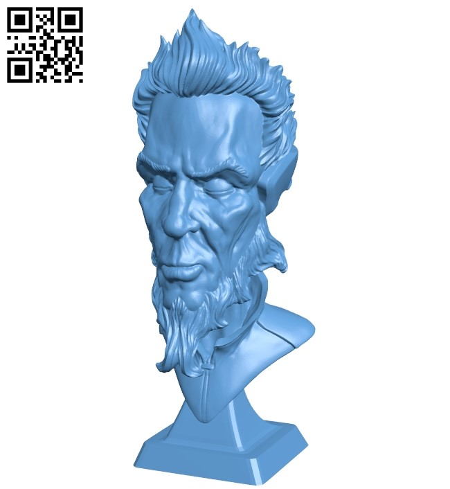 Mr Just Chilling bust B009132 file obj free download 3D Model for CNC and 3d printer