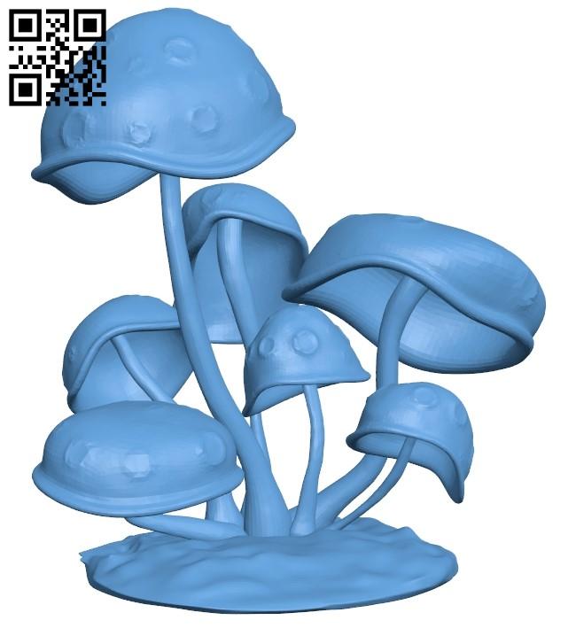 Mushrooms B009183 file obj free download 3D Model for CNC and 3d printer