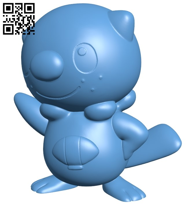 Oshawott - Pokemon B009207 file obj free download 3D Model for CNC and 3d printer