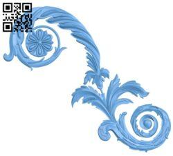 Pattern decor design A006138 download free stl files 3d model for CNC wood carving