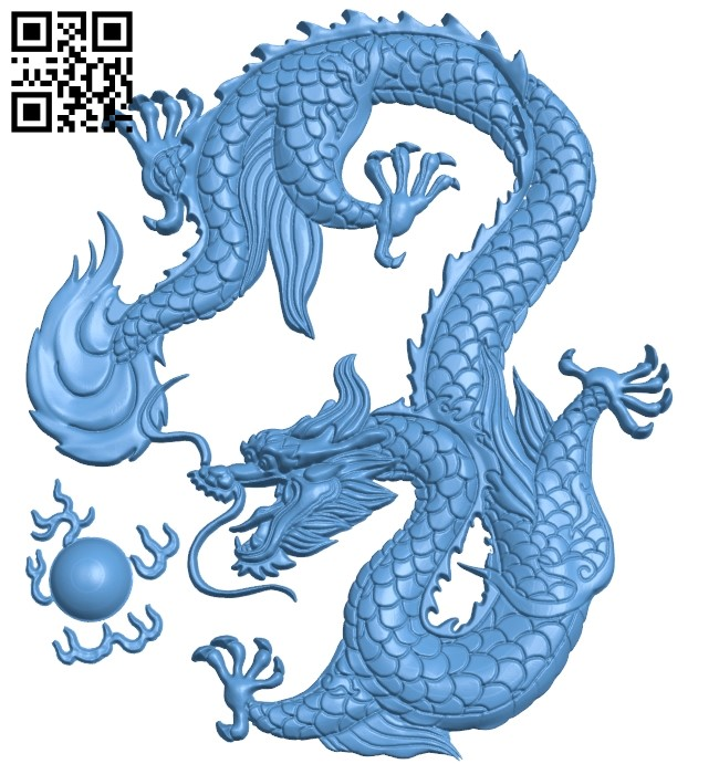 Pattern dragon A006067 download free stl files 3d model for CNC wood carving