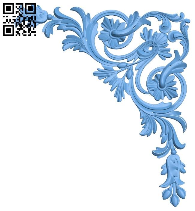 Pattern flower design A006061 download free stl files 3d model for CNC wood carving