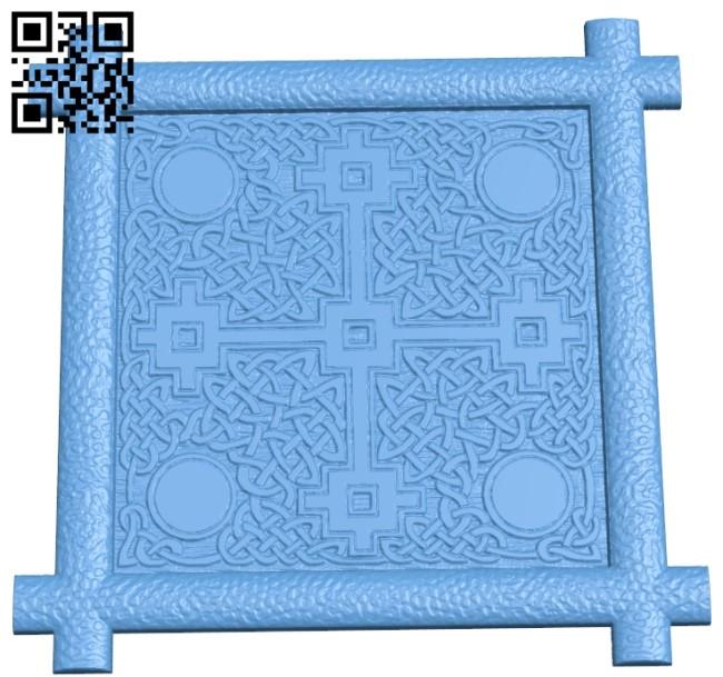 Pattern flower design A006064 download free stl files 3d model for CNC wood carving