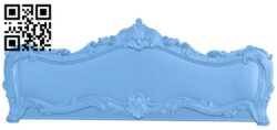 Pattern of the bed frame A006003 download free stl files 3d model for CNC wood carving