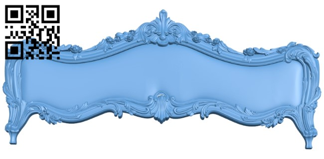 Pattern of the bed frame A006007 download free stl files 3d model for CNC wood carving