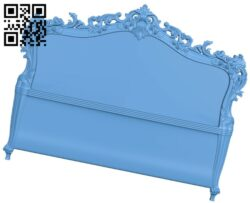 Pattern of the bed frame A006008 download free stl files 3d model for CNC wood carving