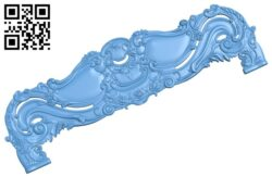 Pattern of the bed frame A006009 download free stl files 3d model for CNC wood carving