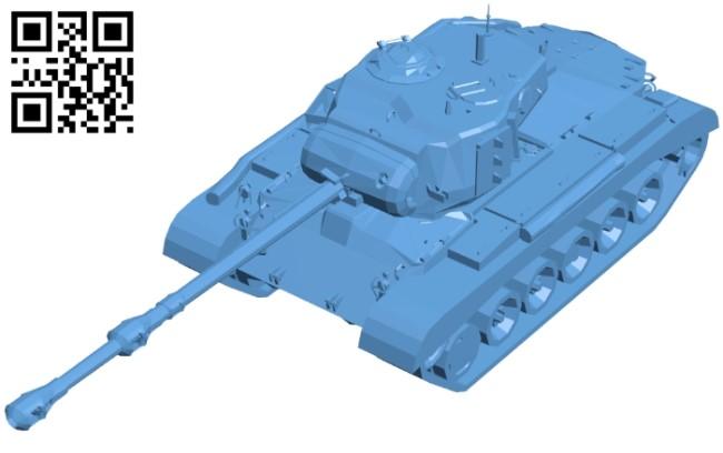 Pershing tank B009134 file obj free download 3D Model for CNC and 3d printer