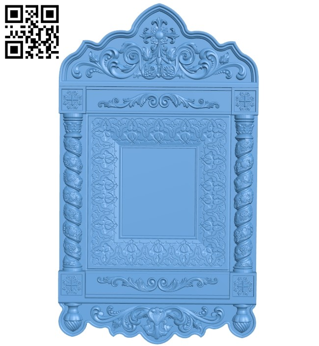 Picture frame or mirror A006110 download free stl files 3d model for CNC wood carving