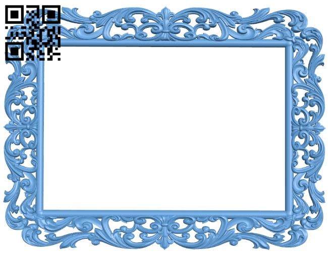 Picture frame or mirror A006112 download free stl files 3d model for CNC wood carving