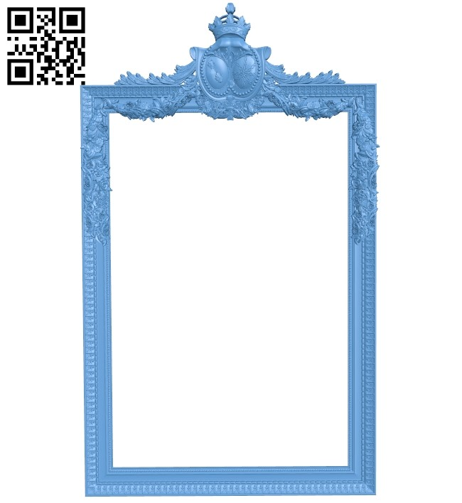 Picture frame or mirror A006113 download free stl files 3d model for CNC wood carving