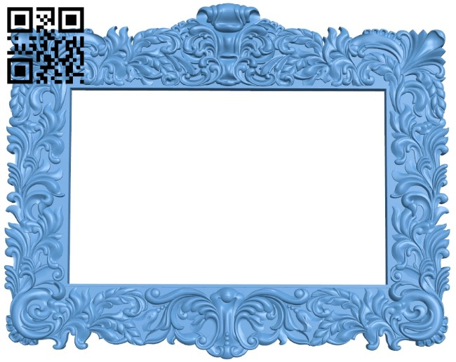 Picture frame or mirror A006115 download free stl files 3d model for CNC wood carving