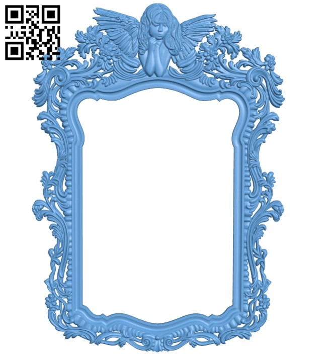 Picture frame or mirror A006116 download free stl files 3d model for CNC wood carving