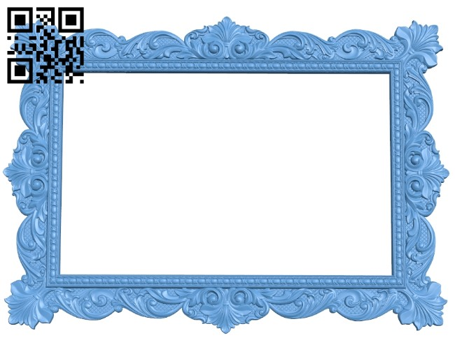 Picture frame or mirror A006117 download free stl files 3d model for CNC wood carving