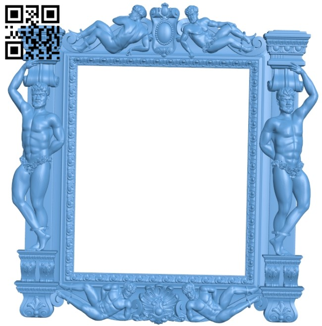 Picture frame or mirror A006118 download free stl files 3d model for CNC wood carving