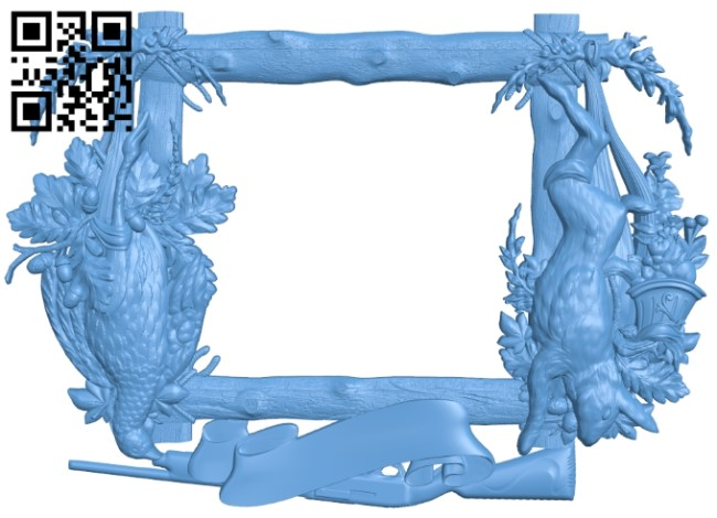 Picture frame or mirror A006119 download free stl files 3d model for CNC wood carving