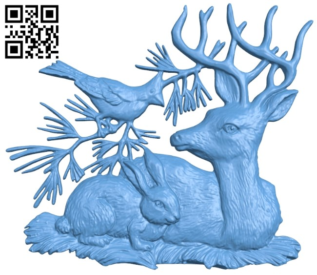 Pictures of animals A006051 download free stl files 3d model for CNC wood carving