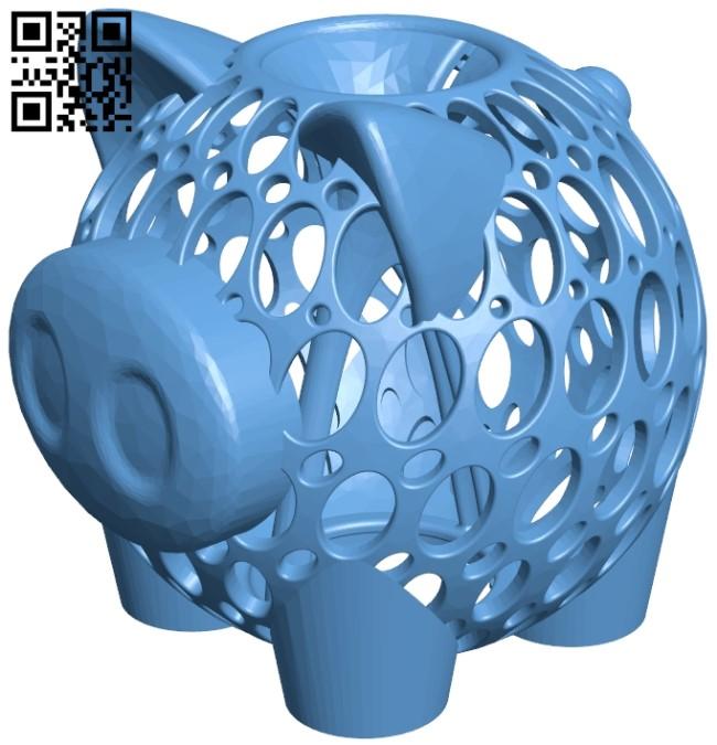 Piggy Bank B009144 file obj free download 3D Model for CNC and 3d printer