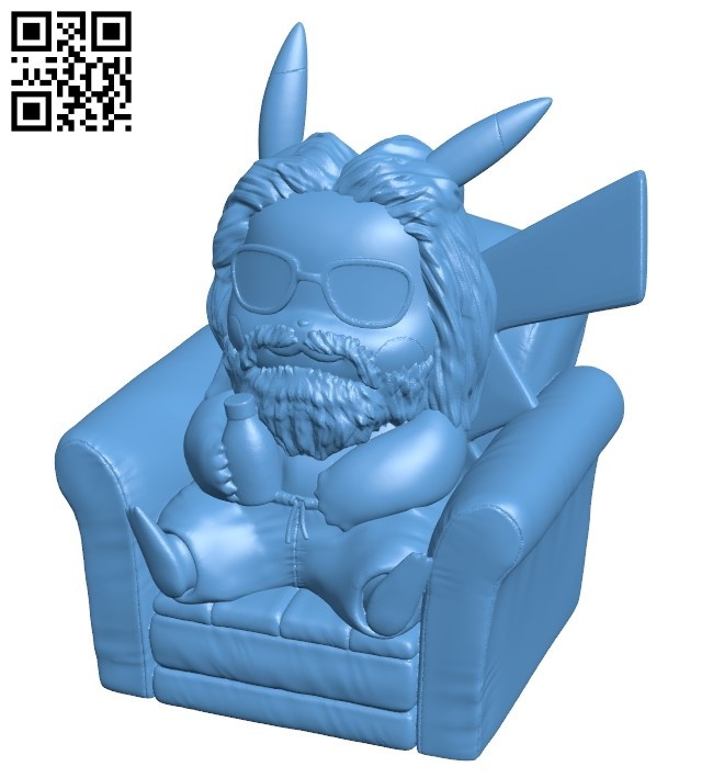 Pikachu x thor B009186 file obj free download 3D Model for CNC and 3d printer