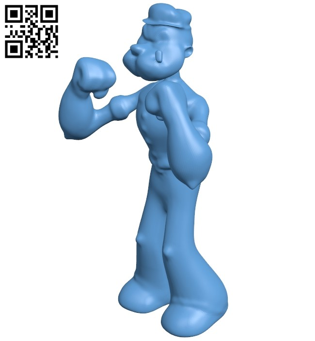 Popeye B009155 file obj free download 3D Model for CNC and 3d printer