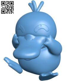 Psyduck – Pokemon B009173 file obj free download 3D Model for CNC and 3d printer