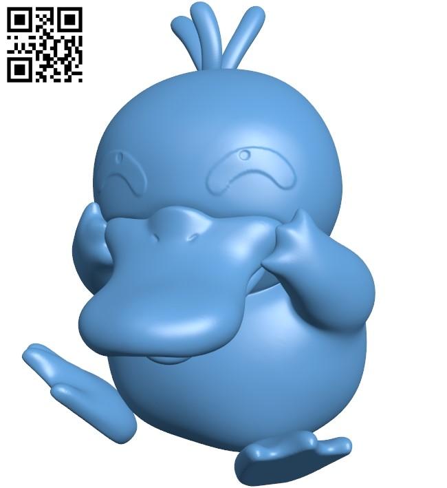 Psyduck - Pokemon B009173 file obj free download 3D Model for CNC and 3d printer