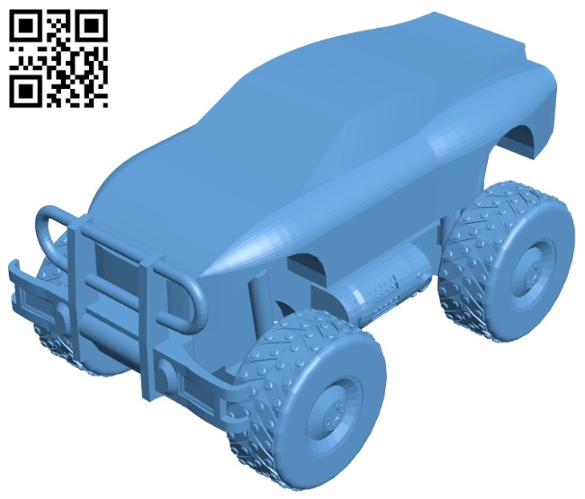 Racing monster truck B009203 file obj free download 3D Model for CNC and 3d printer