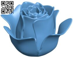 Realistic rose B009201 file obj free download 3D Model for CNC and 3d printer