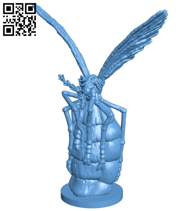 Repaired bloated mosquito B009156 file obj free download 3D Model for CNC and 3d printer
