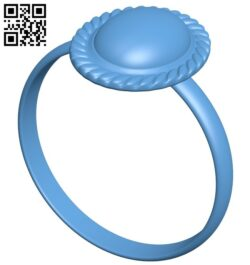 Ring with stone B009114 file obj free download 3D Model for CNC and 3d printer