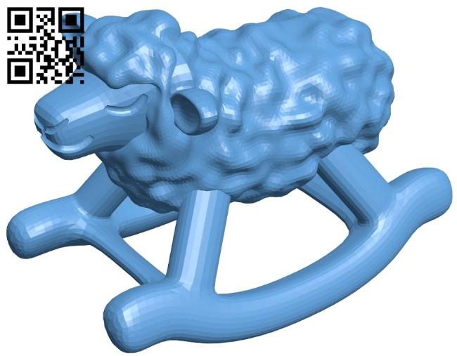 Rocking Sheep B009124 file obj free download 3D Model for CNC and 3d printer