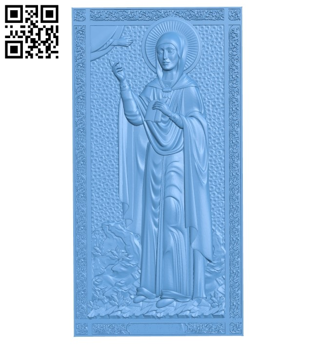 Saint Natalia A006078 download free stl files 3d model for CNC wood carving