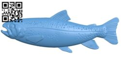Salmon A006055 download free stl files 3d model for CNC wood carving